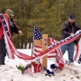 LaVoy Finicum's memorial ransacked; supporters rebuild with more flags, crosses