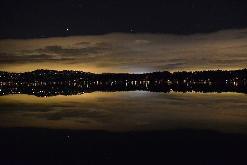 Nighttime lights from East Lake Sammamish Pkwy (Photo: James Stenson)